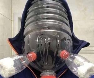 dùng chai nhựa là mặt nà phòng dịch virus corona