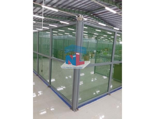Vách ngăn xưởng lưới nhựa do công ty Nam Lâm thi công