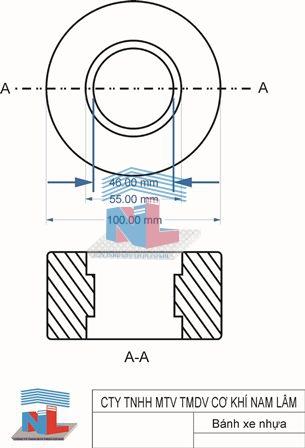 Gia công sản xuất và cung cấp bánh xe nhựa Nam Lâm