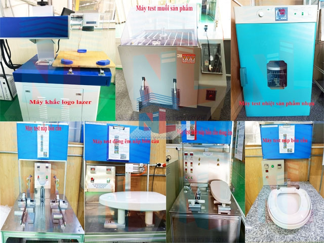 Hệ thống máy test sản phẩm nắp bồn cầu tại Nam Lâm