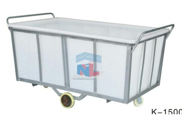 xe thùng nhựa đẩy vải NL-1500L