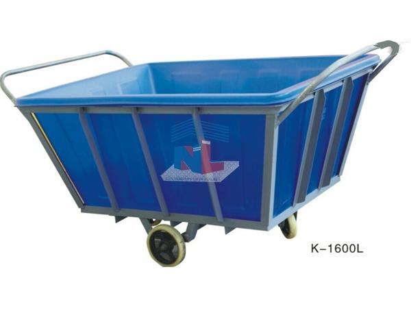 Gia công xe thùng nhựa đẩy vải dệt nhuộm 1600L